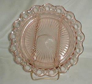 Anchor Hocking Lace Edge Relish Dish, MINT