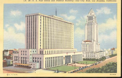 US Federal Bldg Postcard Los Angeles CA