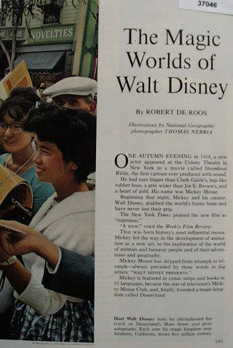 The Magic Worlds of Walt Disney 1963 Article