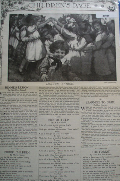 Youths Companion Childrens Page 1910 Article