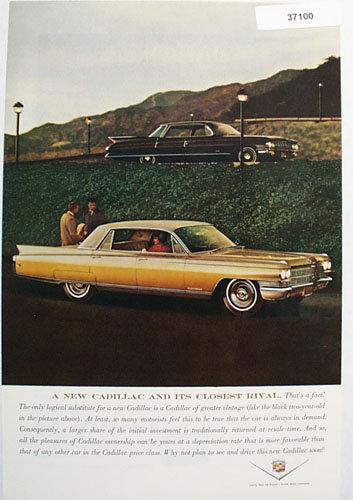 Cadillac Car 1963 Ad