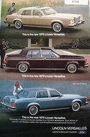 Lincoln Versailles Car 1978 Ad
