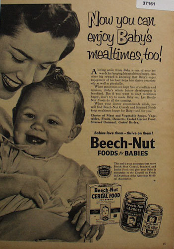 Beech Nut Foods for Babies 1953 Ad