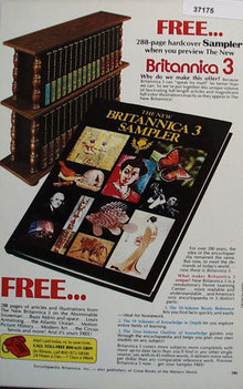 Britannica 3 Encyclopedia 1979 Ad