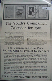 Youths Companion Calendar 1911  Ad