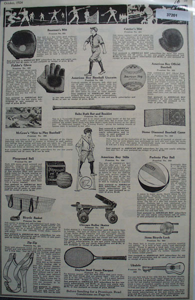 American Boy 1924 Premiums