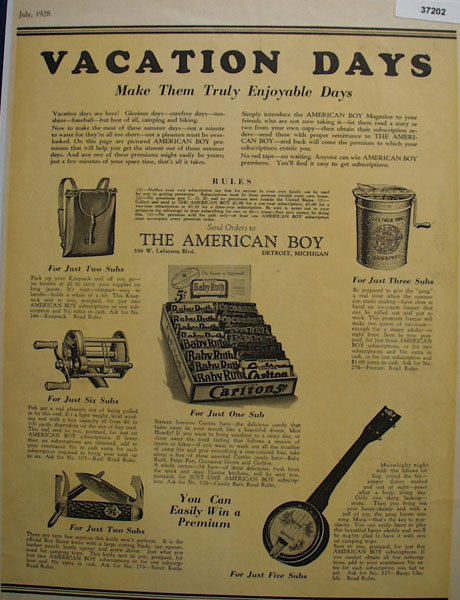 American Boy 1928 Premiums