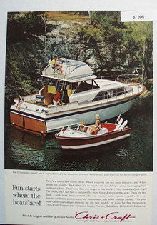 Chris Craft Motor Boats 1963 Ad