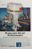 Johnson Boat Motor 1963 Ad