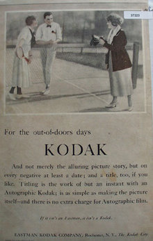 Eastman Kodak Co. 1920 Ad