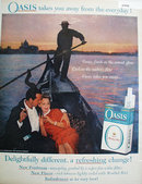 Oasis Filter Cigarette 1959 Ad