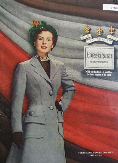 Forstin Ann Wool Clothes 1949 Ad