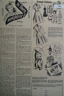 Farmers Guide Printed Patterns 1958 Ad