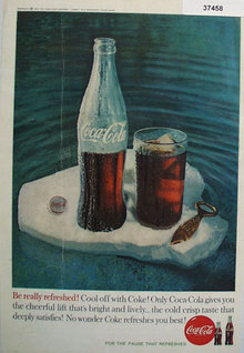Coca Cola 1960 Be Really Refreshed Ad