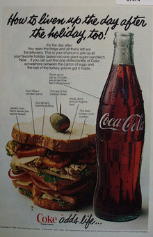 Coca Cola 1978 Day After The Holiday Ad