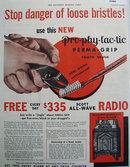 ProPhyLacTic Perma Grip Tooth Brush 1933 Ad