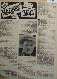 Matinee Mail Movie Stars 1964 Article