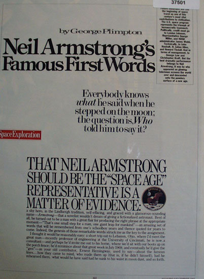 Neil Armstrongs Famous First Words 1983 Article