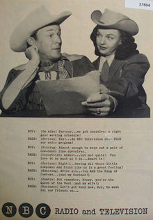 Roy Rogers And Dale Evans 1953 NBC Ad