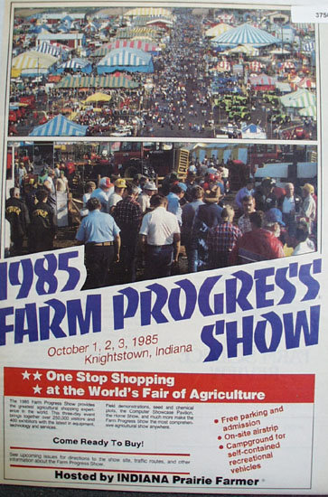 Farm Progress Show 1985 Ad