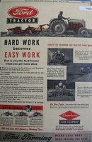 Ford Tractor Dearborn Farm Equipment 1948 Ad