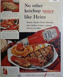 Heinz Tomato Ketchup 1960 Ad