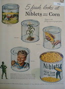 Niblets Whole Kernel Corn 1943 Ad