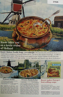 Knorr Chicken Noodle Soup 1963 Ad