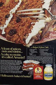 Hellmanns Real Mayonnaise 1981 Ad