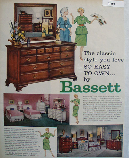 Bassett Furniture 1959 Ad
