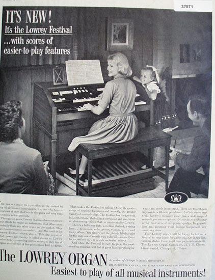 Lowery Organ 1960 Ad