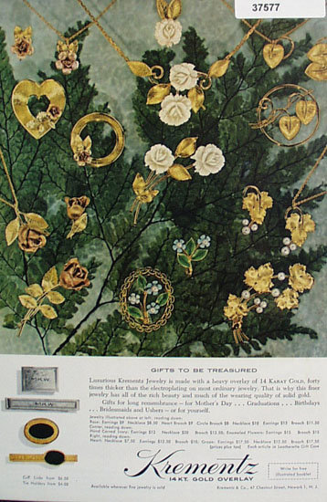 Krementz Jewelry 1962 Ad