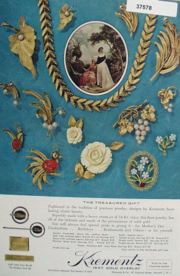 Krementz 14 Kt. Gold Overlay 1963 Ad