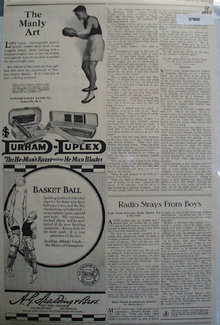 Durham Duplex Razor 1923 Ad