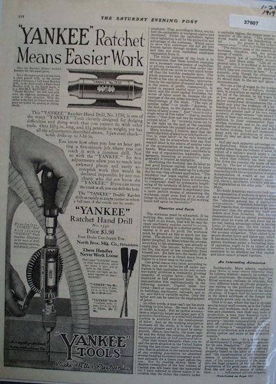 Yankee Tools 1919 Ad