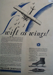 Nestor Johnson Ice Skates 1928 Ad