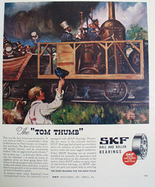 SKF Ball And Roller Bearings 1946 Ad