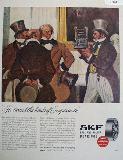 SKF Ball And Roller Bearings 1946 Ad