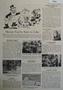 Open Road Movie Review 1931 Ad