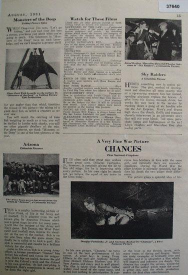 Movie Reviews 1931 Ad
