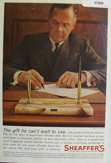 Sheaffers 14 Karat Gold Point Fountain Pen 1963 Ad