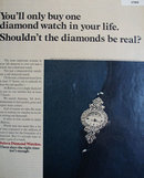 Bulova Diamond Watches 1970 Ad