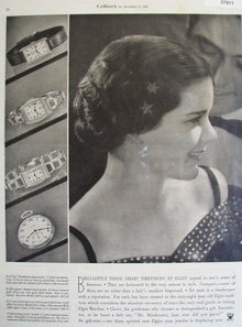 Elgin watches 1933 Ad