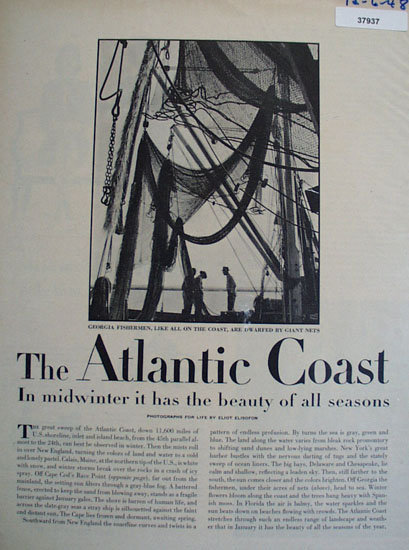 The Atlantic Coast 1948 Article