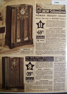 Sears New Silvertone Golden Star Radio 1935 Ad