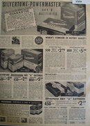Silvertone Powermaster Dry Batteries 1938 Ad