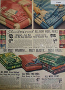 Slumbersound Sears Wool Blankets 1938 Ad