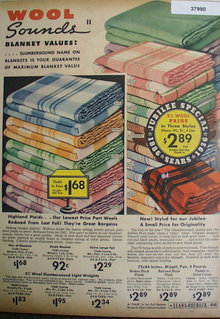 Sears Wool Sounds Blanket 1936 Ad