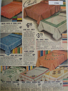 Sears Chenille Bedspreads 1938 Ad