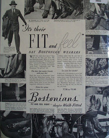 Bostonians Shoes 1938 Ad.
